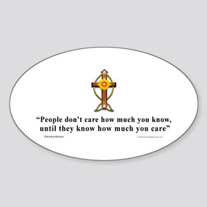 Anonymous Quote 1 Oval Sticker