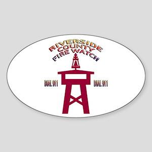 Rivco Firewatch Oval Sticker