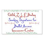 Vancouver-Centre Signatures Rectangle Sticker 10