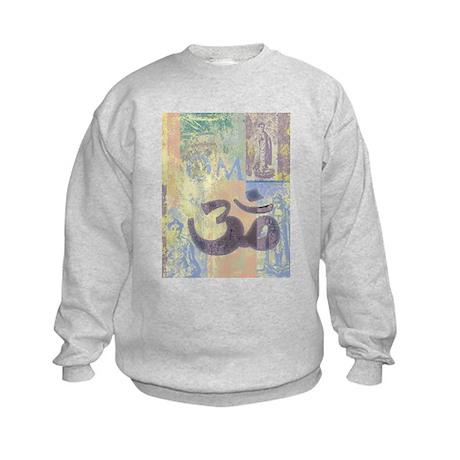 Om Abstract Kids Sweatshirt