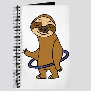 Funny Sloth Hula hoop Journal