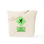 Eco Green Pedestrian Sign Reusable Tote Bag