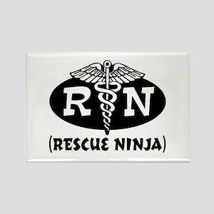 Ninja Nurse Rectangle Magnet