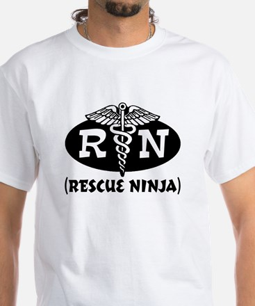Ninja Nurse White T-Shirt
