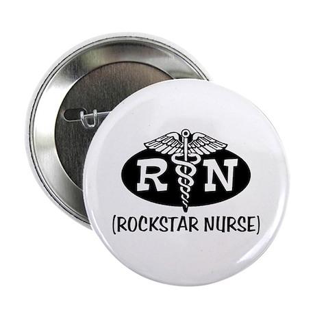 "Rockstar Nurse 2.25"" Button"