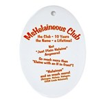 MsHelaineous 10 Year Oval Ornament