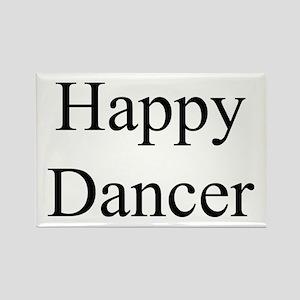Happy Dancer Rectangle Magnet black