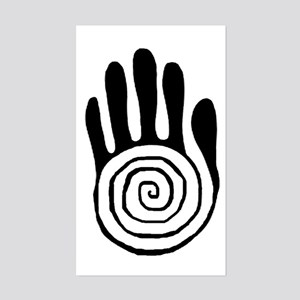 Sacred Hand in Black - Rectangle Sticker