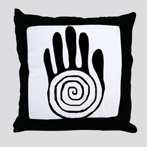 Sacred Hand in Black - Throw Pillow