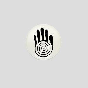 Sacred Hand in Black - Mini Button