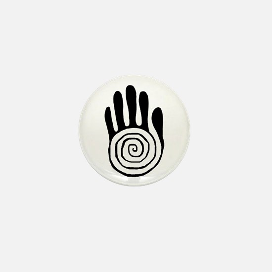 Sacred Hand in Black - Mini Button