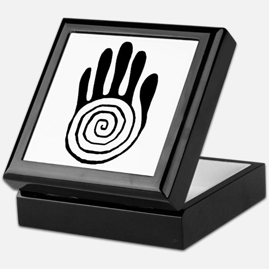 Sacred Hand in Black - Keepsake Box