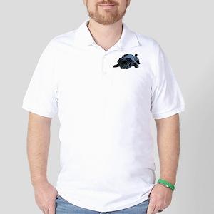 Adorable Black Pug Golf Shirt