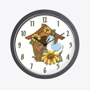 Birdhouse Wall Clock