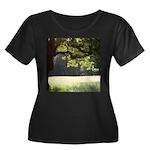 Sunny Oak Women's Plus Size Scoop Neck Dark T-Shir