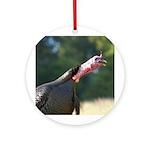 Gobbling Gobbler Ornament (Round)