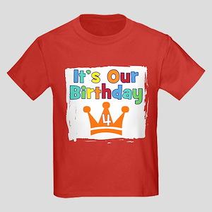 It's Our Birthday (4) Kids Dark T-Shirt
