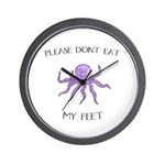 Don't eat Feet! (PETA) Wall Clock