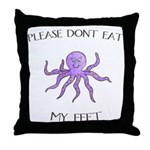 Don't eat Feet! (PETA) Throw Pillow