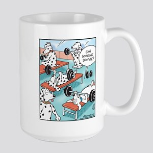 Dalmatians Weight Training Large Mug