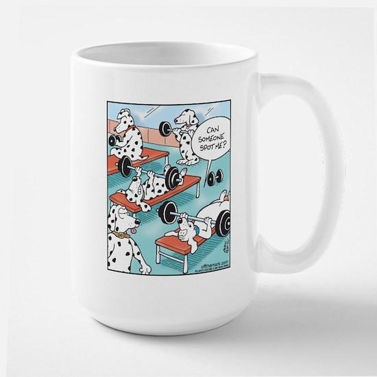 Dalmatians Weight Training Large Mug