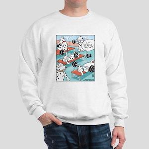 Dalmatians Weight Training Sweatshirt