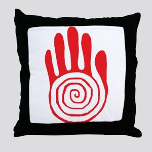 Sacred Hand in Red - Throw Pillow