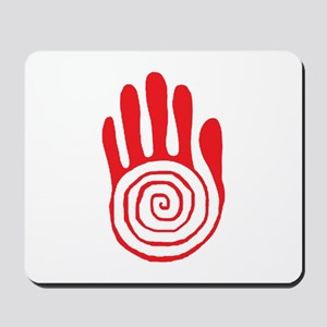 Sacred Hand in Red - Mousepad