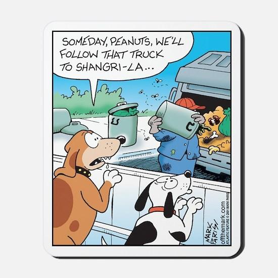 Dogs love Garbage Trucks Mousepad