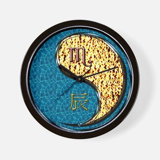 Scorpio & Fire Dragon Wall Clock