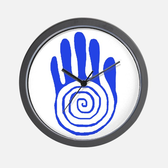 Sacred Hand in Blue - Wall Clock