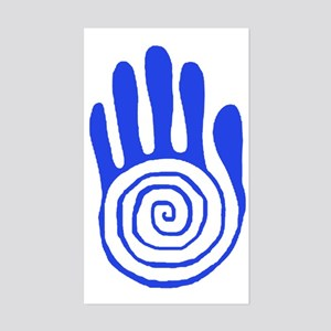 Sacred Hand in Blue - Rectangle Sticker