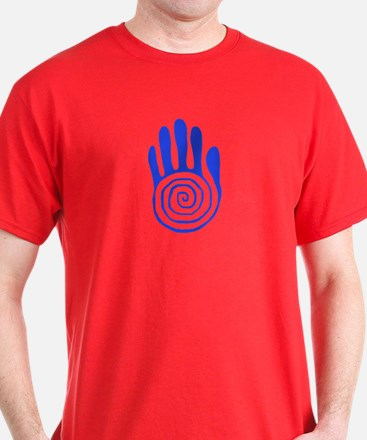 Sacred Hand in Blue - T-Shirt