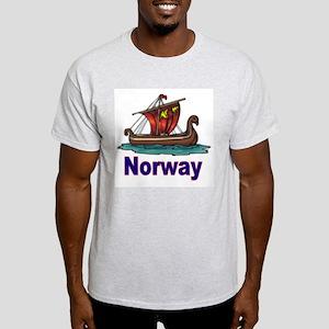Viking Ship -2- Norway Ash Grey T-Shirt