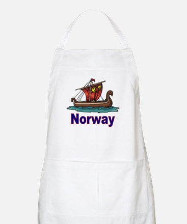 Viking Ship -2- Norway BBQ Apron