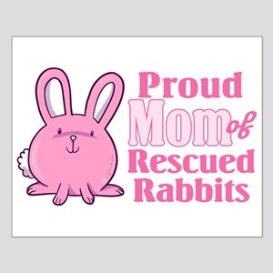 Rescued Rabbits Mom Small Poster