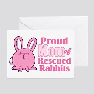 Rescued Rabbits Mom Greeting Card