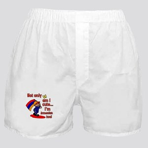 Not only am I cute I'm Armenian too! Boxer Shorts