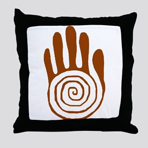 Sacred Hand in Brown on Throw Pillow