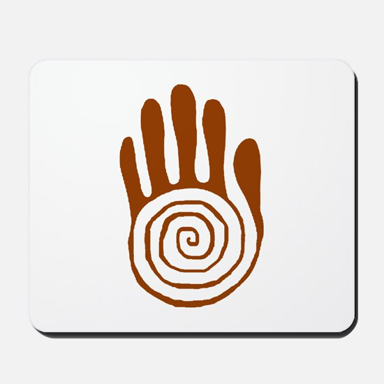 Sacred Hand in Brown on Mousepad