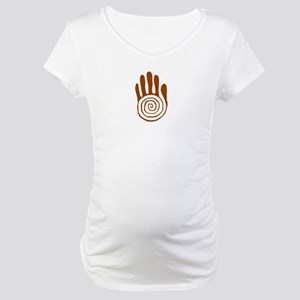 Sacred Hand in Brown on Maternity T-Shirt