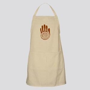 Sacred Hand in Brown on BBQ Apron