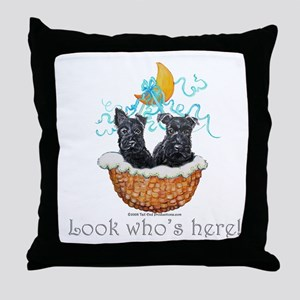 Vintage Scottish Terrier Throw Pillow