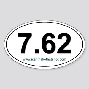7.62 Oval Sticker