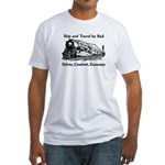Ship and Travel By Rail Fitted T-Shirt