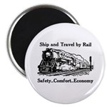 Ship and Travel By Rail Magnet