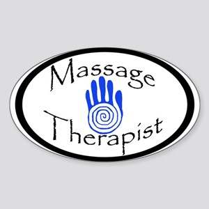Massage Therapist Oval Sticker