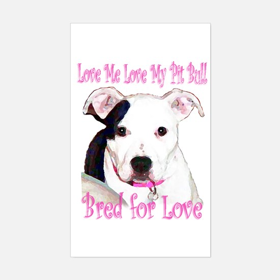 Bred for Love Rectangle Decal