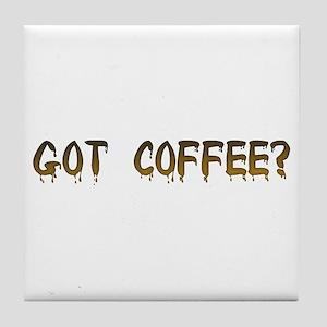 Caffeinated! Tile Coaster