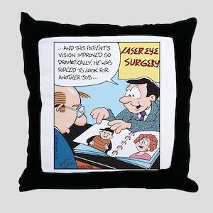 Laser Eye Surgery Throw Pillow